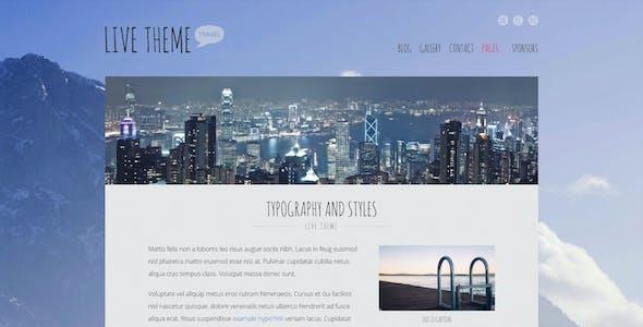 Live — Blog WordPress Theme