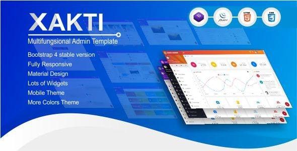 Xakti - Multifungsional Bootstrap 4 Admin Template - Admin Templates Site Templates
