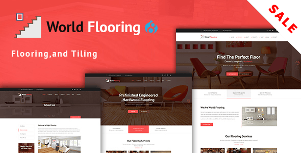 World Flooring - Tiling & Paving Services Drupal 8.8 Theme - Business Corporate