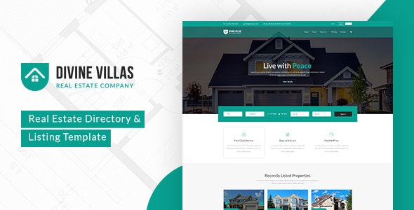 Divine Villas - Real Estate Template - Business Corporate