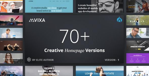 Vixa - Responsive Multi-Purpose Drupal 8.9 Theme - Corporate Drupal