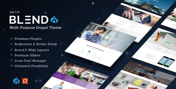 Blend - Multi-Purpose Responsive Drupal 8.9 Theme