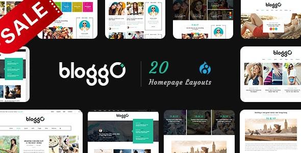 Bloggo - Multipurpose Magazine Drupal 8.9 Theme - Personal Blog / Magazine