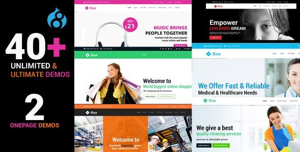 Rise - Responsive Multi-Purpose Drupal 8.8 Theme - Corporate Drupal