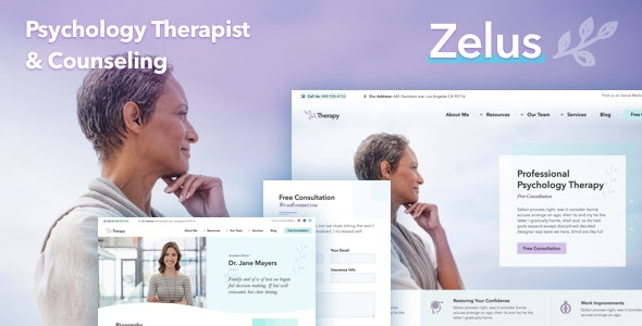 Zelus - WordPress Theme for Psychology Counseling - Health & Beauty Retail