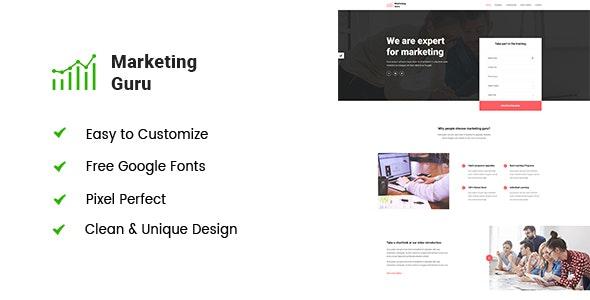 Marketing Guru - Bootstrap4 Digital Agency Template - Marketing Corporate
