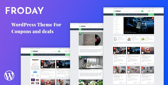 Froday – Coupons and Deals WordPress Theme - WooCommerce eCommerce