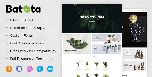 Batota E-Commerce Bootstrap Responsive Template - Art Creative