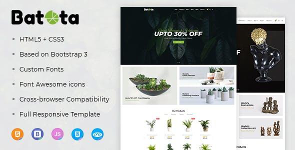 Batota E-Commerce Bootstrap Responsive Template