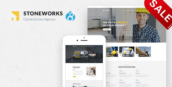 Stoneworks - A Professional Drupal 8.8 Theme for Construction And Building Business - Business Corporate