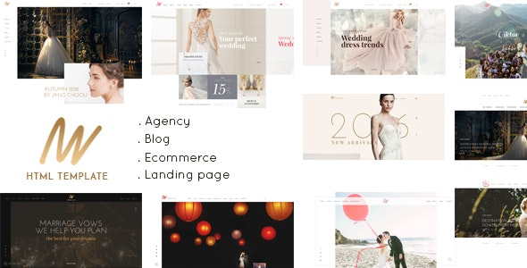 The VOW - Wedding Responsive HTML Template - Wedding Site Templates