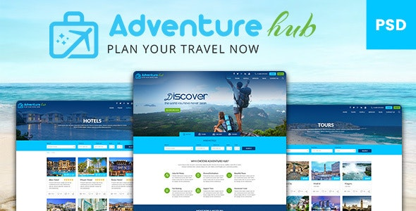 Viaxe Adventure Hub - Photoshop UI Templates