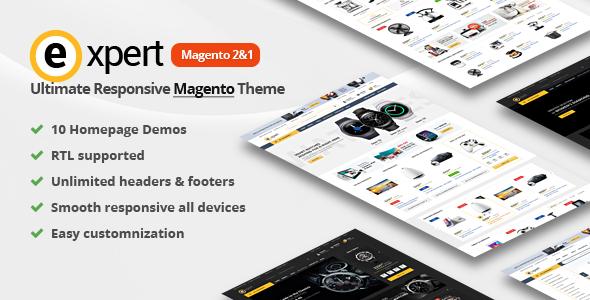 7ad7cd6460 Expert | Premium Responsive Magento 2 and 1 ( support RTL Magento 2 ) -  Magento