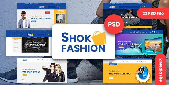 Fashion & Electronics eCommerce PSD Template - Retail Photoshop