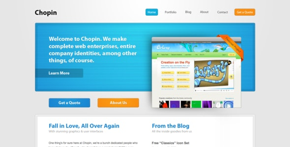 Chopin HTML - Creative Site Templates