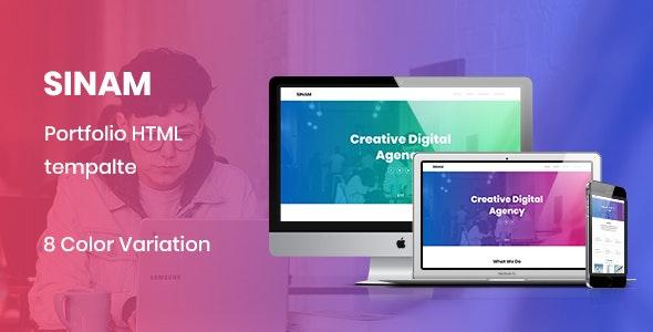 Sinam - Creative HTML5 Portfolio Template - Portfolio Creative