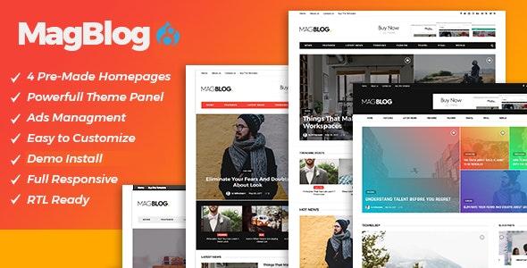 MagBlog - News & Editorial Magazine Drupal 8.8 Theme - Retail Drupal