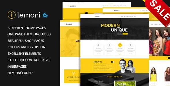 Lemoni - Multipurpose Drupal 8.8 Theme - Corporate Drupal