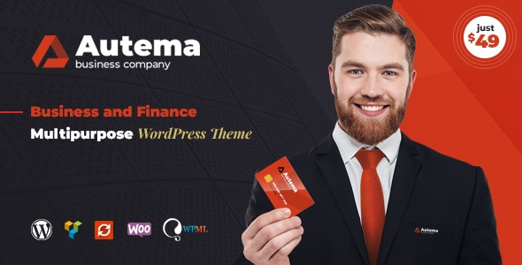 Autema - Quick Loans, Bitcoin, Business Coach and Insurance Agency WordPress Theme - Business Corporate