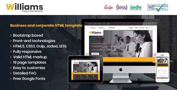 Williams Business HTML Template - Business Corporate