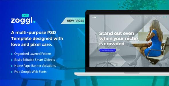 Zoggl - Multi-purpose Website PSD - Marketing Corporate