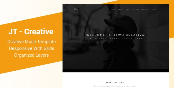 JT - Creative One Page Muse Template - Creative Muse Templates