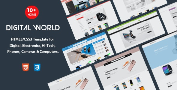Digital World - HTML Template for Electronics & Hi-Tech Store - Shopping Retail