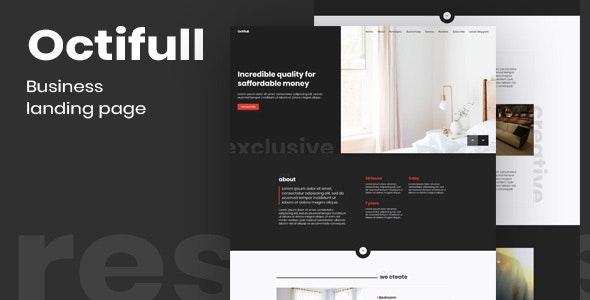 Octifull — Dark Business Themeplate - Business Corporate