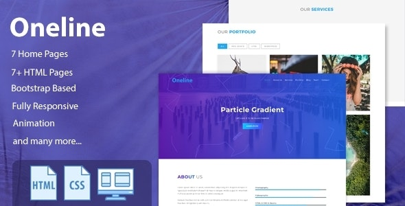 Oneline — Onepage HTML Template - Corporate Site Templates