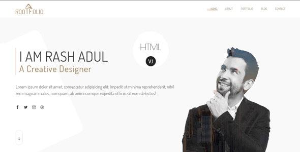 Rootfolio - One Page Portfolio HTML5 Template - Portfolio Creative