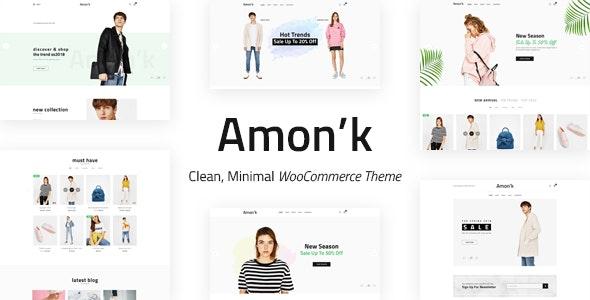 Amon'k - Clean, Minimal Store PSD Template - Shopping Retail
