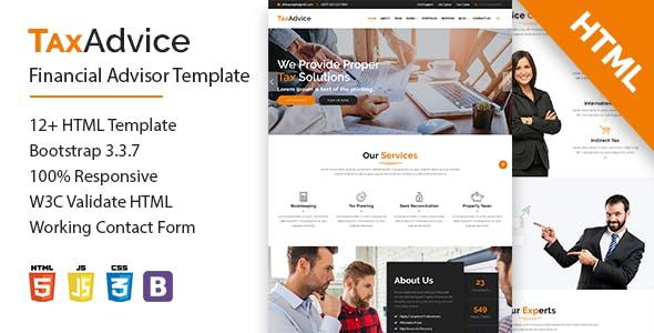 TaxAdvice-Financial Advisor Multipage Template
