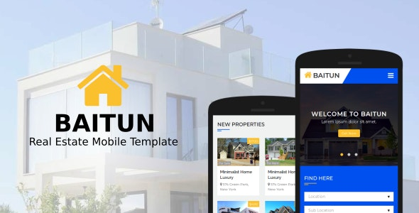 Baitun - Real Estate Mobile Template - Mobile Site Templates