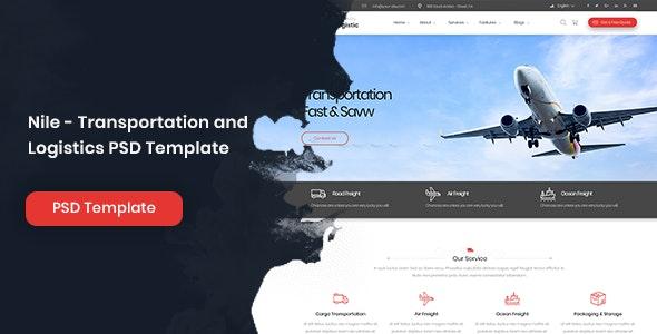 Nile - Transportation and Logistics PSD Template - Business Corporate