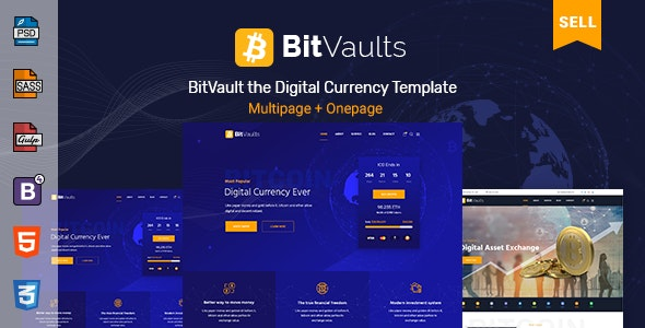 Bitvaults | ICO, Bitcoin and Cryptocurrency HTML Template - Business Corporate