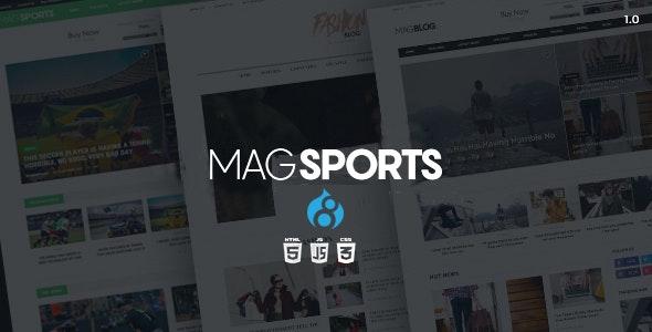 MagSports - News Editorial & Magazine Drupal 8.8 Theme - Blog / Magazine Drupal