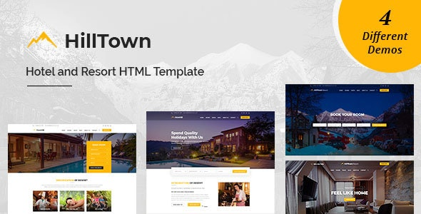 HillTown - Hotel & Resort HTML Template - Travel Retail