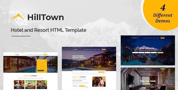 HillTown - Hotel & Resort HTML Template