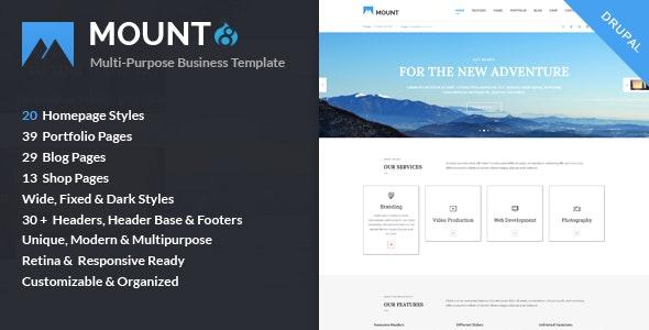 Mount – Multi-purpose Business Drupal 8.9 Theme - Business Corporate