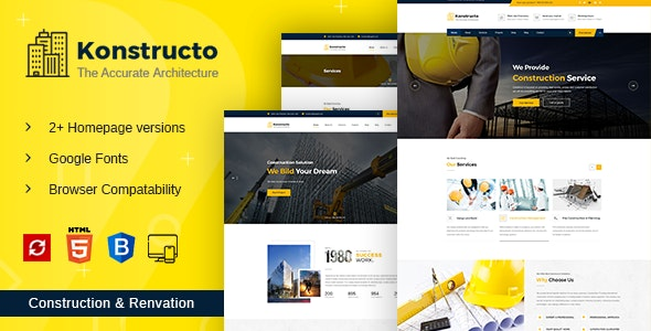 Konstructo - Construction HTML Template - Business Corporate