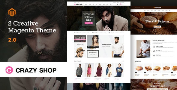 Crazyshop Multipurpose Responsive Magento2 Theme | Fashion | Watch | Food - Magento eCommerce