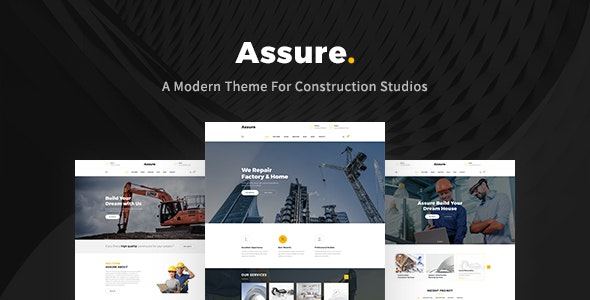 Assure - Construction Building Templates - Business Corporate