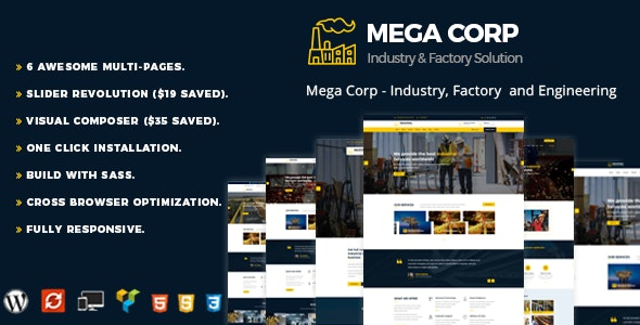 MegaCorp - Industrial Industry & Factory - Business Corporate