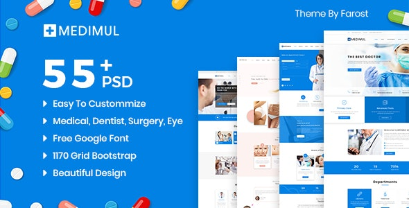 Medimul - Multi-Purpose Medical Health PSD Template - Health & Beauty Retail
