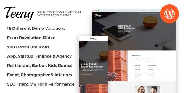Teeny - One Page Multipurpose WordPress Theme