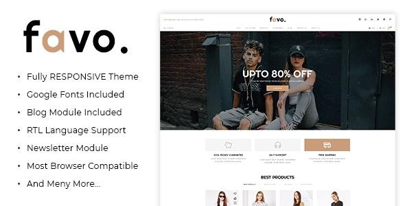 Favo - Multipurpose Responsive Fashion Opencart 3.x Theme - Fashion OpenCart