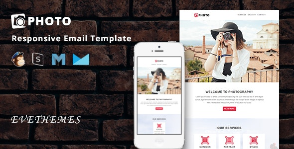 Photo - Responsive Email Template - Newsletters Email Templates