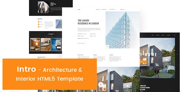 Intro - Architecture & Interior HTML5 Template - Creative Site Templates