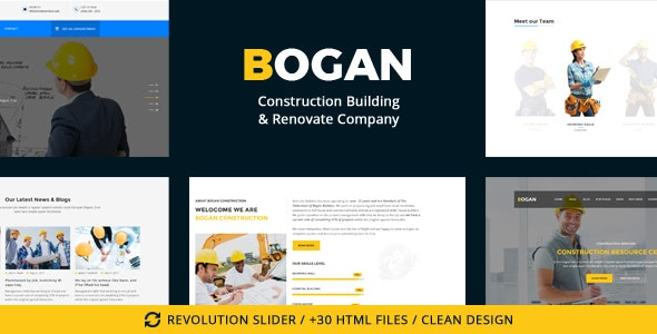 Bogan - Construction Building & Renovate Company - Business Corporate