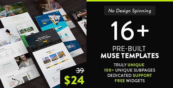 dMuse All in One Muse Template - Muse Templates